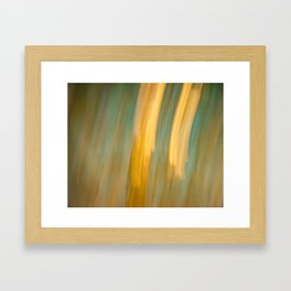 Ancient Gold and Turquoise Texture Framed Art Print