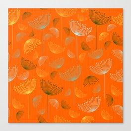 Mid-Century Modern Art Umbrella Flowers 1.4 Canvas Print