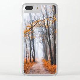 Misty road Clear iPhone Case
