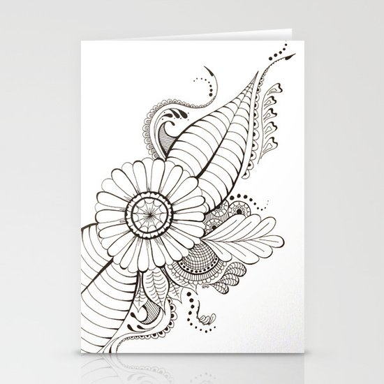 Delicate Floral Stationery Cards