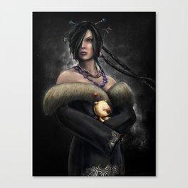 Final Fantasy X Lulu Painting Portrait Canvas Print