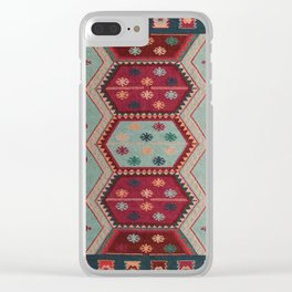 V31 Traditional Colored Moroccan Carpet. Clear iPhone Case