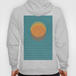 Minimalist Sunset Over Ocean, Vacation Print, Sun Set Poster, Large Printable Photography, Wall Art Hoody