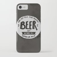 beer iPhone & iPod Cases featuring Beer by Juliana Rojas | Puchu