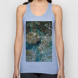 SPARKLING GOLD AND TURQUOISE CRYSTAL Unisex Tank Top