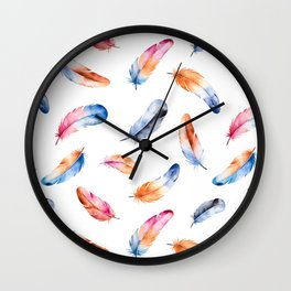 Autumn Feathers Wall Clock
