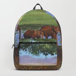 African Elephants Backpack