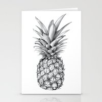 pineapple Stationery Cards featuring Pineapple by Sibling & Co.