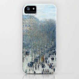 Claude Monet - Boulevard des Capucines, 1873 iPhone Case