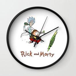Rick andMorty Calvin and Hobbes Wall Clock