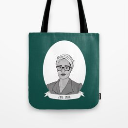 Zadie Smith Illustrated Portrait Tote Bag