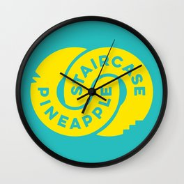 PineappleStaircase | Official Logocolor 2015 in Turquoise/Yellow Wall Clock