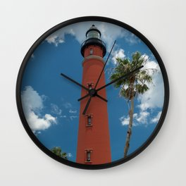 Ponce de Leon Misquito Inlet Tallest Lighthouse in Florida Wall Clock