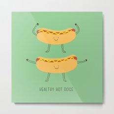 healthy hotdogs Metal Print