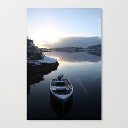 Norwegian Nature -Boat & Snow I Canvas Print