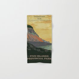 Five Islands Provincial Park Poster Hand & Bath Towel