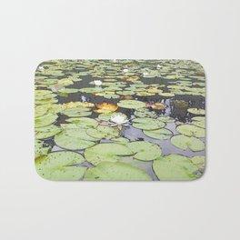 395 - Abstract Lily Pads Design Bath Mat