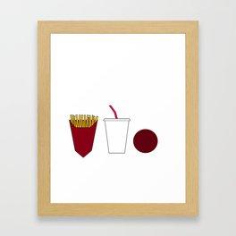Aqua teen hunger force minimalist  Framed Art Print