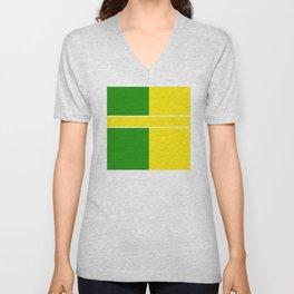 Team Colors 6...Yellow,green Unisex V-Neck