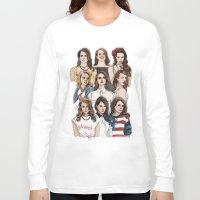wallpaper Long Sleeve T-shirts featuring LDR Wallpaper by Daniel Cash