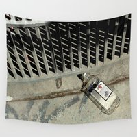 code Wall Tapestries featuring Bar Code by oneofacard