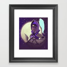 By the Cresent Moon Framed Art Print