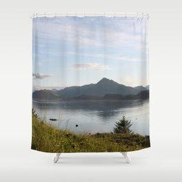 Kashevaroff Mountain Photography Print Shower Curtain