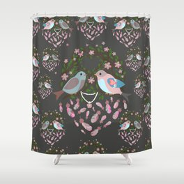 Love is in the air Spring Birds Shower Curtain