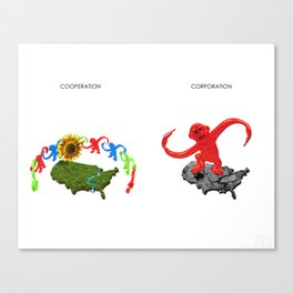 Cooperation Corporation Canvas Print