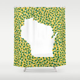 Wisco: Green Bay Colors Shower Curtain