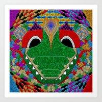 Trippy Croc Art Print