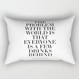 Humphrey Bogart,Inspirational Quote,Motivational Poster,Bar Decor,Quote Prints,Typography Print Rectangular Pillow