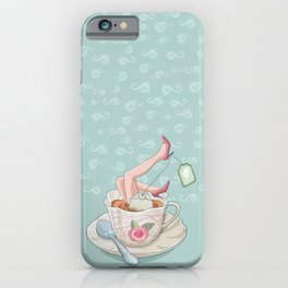 Tea for two legs-Surreal-Fantasy-Humor iPhone Case