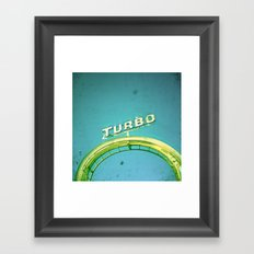 Turbo Framed Art Print