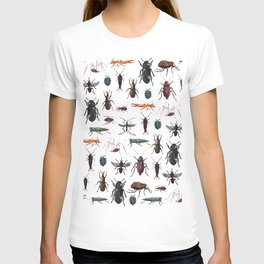Color Insects Pattern T-shirt