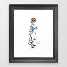 Birks & Coffee Framed Art Print