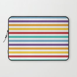 Modern geometrical colorful rainbow stripes Laptop Sleeve