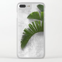 Banana Leaves on Wall Clear iPhone Case