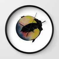 toothless Wall Clocks featuring Toothless by Emilee's Fine Art