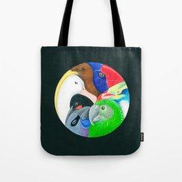 Squish Squashy Birds Circle Tote Bag