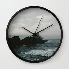 Crashing Waves on Cannon Beach Oregon Wall Clock