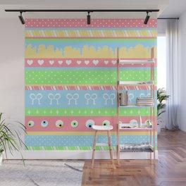 Creepy Cute Stripes Wall Mural
