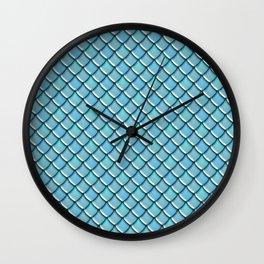 Sea Dragon Scales Wall Clock