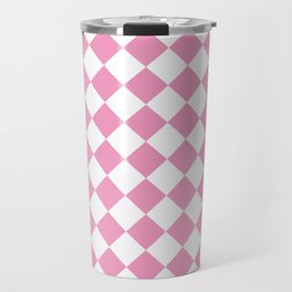 Light Pink Diamond Pattern Travel Mug