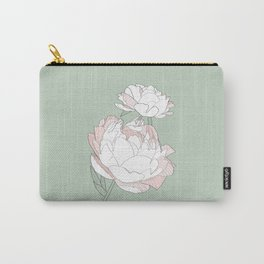PEONIA - GREEN LILY - Sorbetedelimón Carry-All Pouch