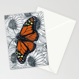 Monarch butterfly on coneflowers  Stationery Cards