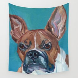 Walker the Boxer Dog Portrait Wall Tapestry