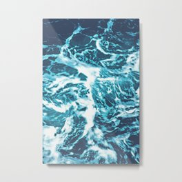 Tropical Turquoise Waves Metal Print