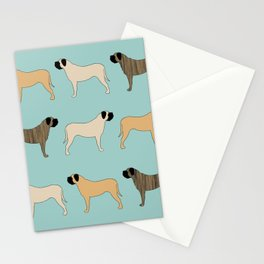 Mastiff Pattern Stationery Cards
