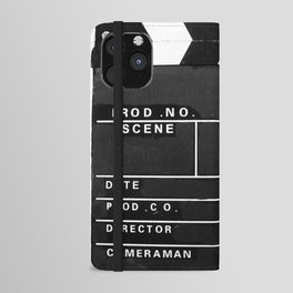 Film Movie Video production Clapper board iPhone Wallet Case